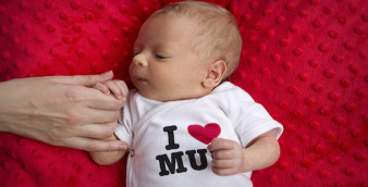 Love touch hand newborn baby mother's day